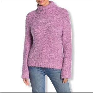 Abound Fuzzy Knit Turtleneck Sweater